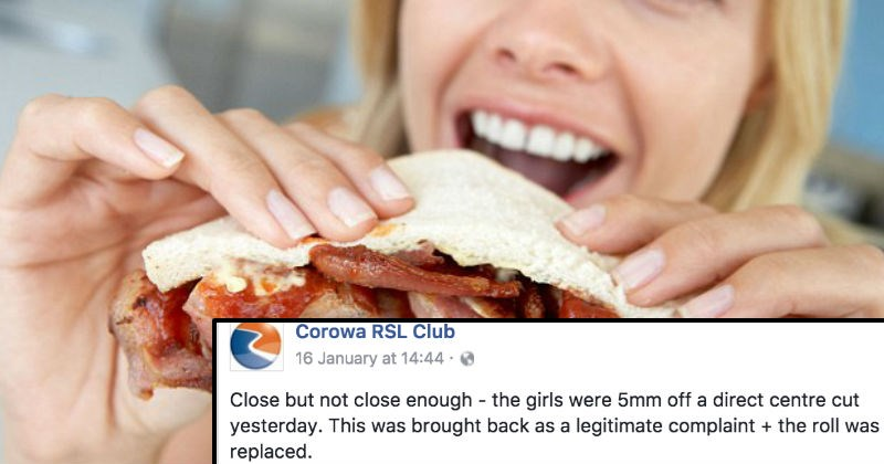 Restaurant shares a Facebook post of a customer who tried to return their sandwich because it wasn't cut evenly.