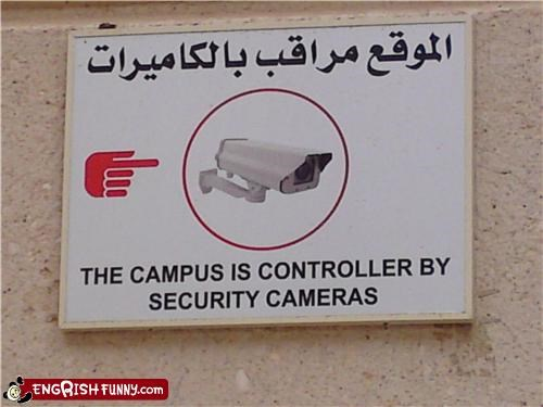 camera campus rise of the machines robots safety security sign