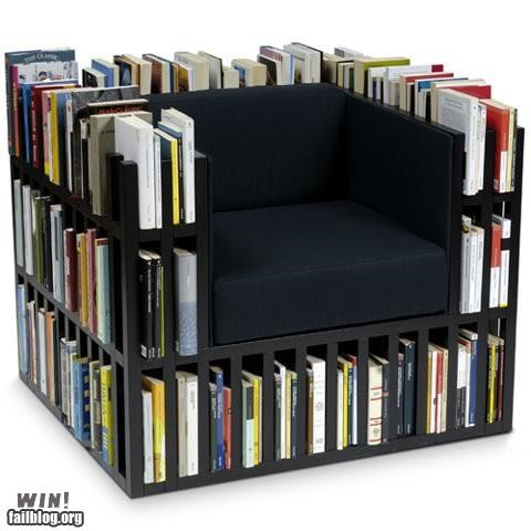 books bookshelf chair comfortable furniture reading is awesome - 4573271808