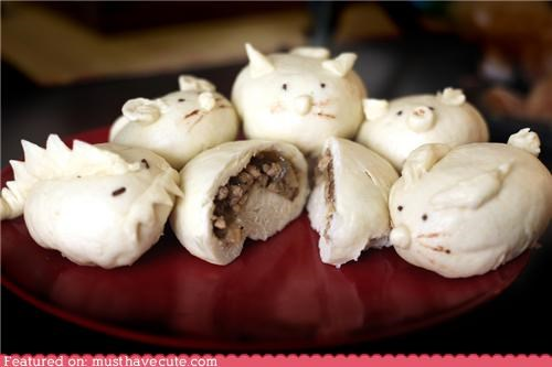 animals bunny buns dinosaur epicute mouse piggy pork siao bao steamed buns - 4573636096