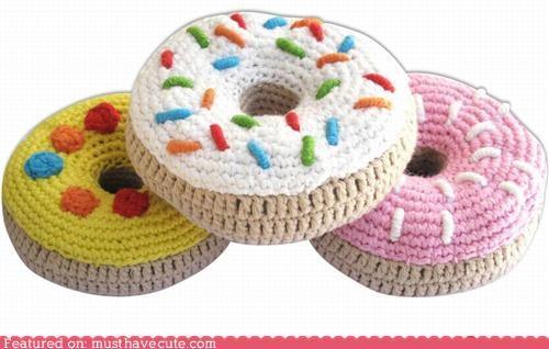 Amigurumi crochet donuts sprinkles - 4573916416