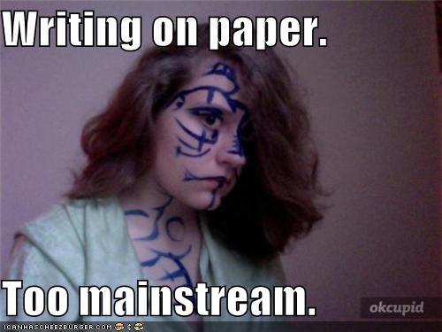 mainstream paper weird kid writing - 4574432000