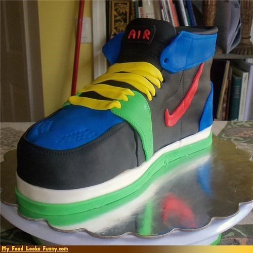 cake fondant high top nike shoe - 4574439168