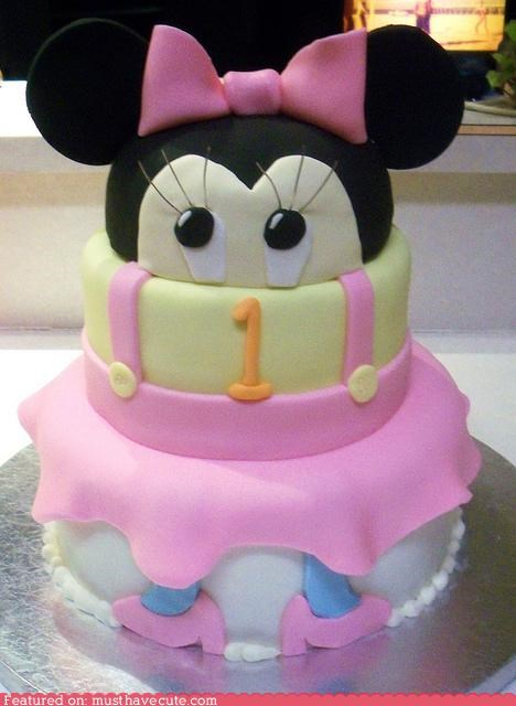 birthday,cake,epicute,fondant,minnie mouse