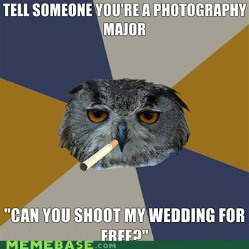 animemes,Art Student Owl,college,everyone wants a deal,photography
