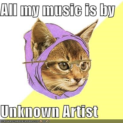 Hipster Kitty unknown artist you probably never heard of them