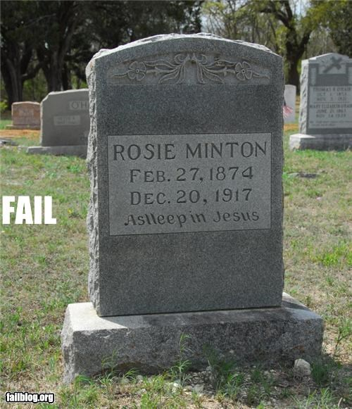 Death failboat g rated permanent spelling tombstone yikes - 4574932224