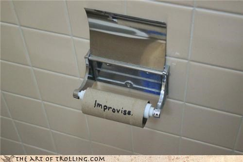 empty roll improvise IRL toilet paper - 4575266304