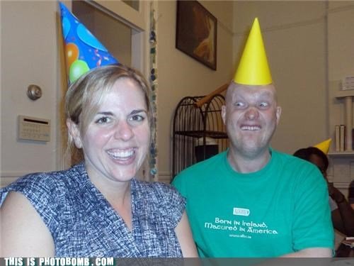 awesome,creepy guy,party hat