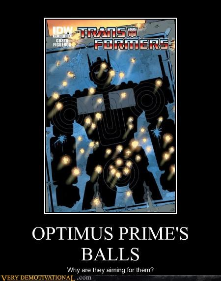 OPTIMUS PRIME'S BALLS Why are they aiming for them?
