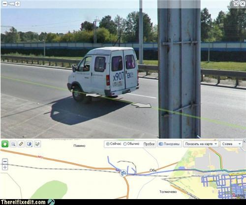 cars google maps truck wtf - 4575503872