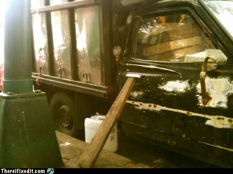 cars holding it up locked tight trucks wood - 4575821312