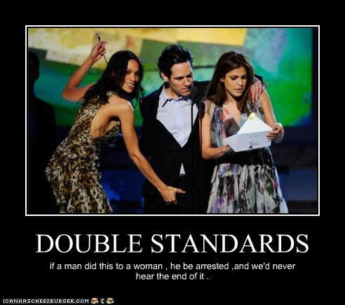 actor,celeb,demotivational,eva mendes,funny,paul rudd,Rosario Dawson