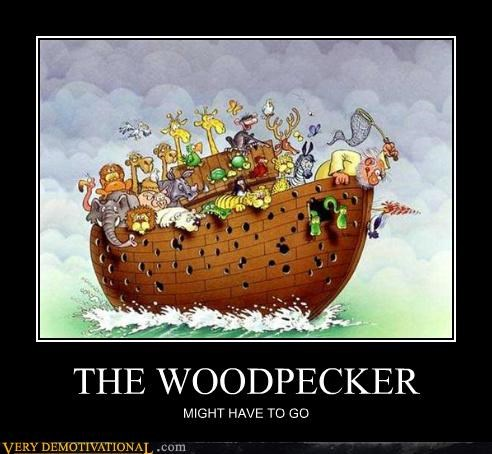 boat noahs ark uh oh woodpecker