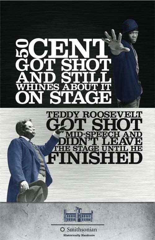 50 cent Art Project Smithsonian teddy roosevelt