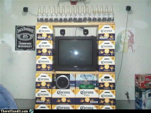 beer,manly fix,television,TV,tv unit