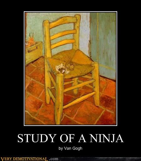 chair,ninja,Van Gogh