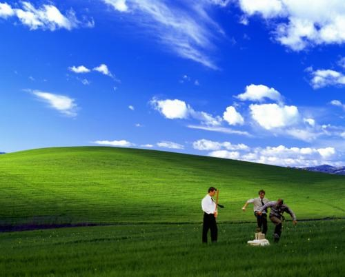 bliss desktop wallpaper Office Space windows xp