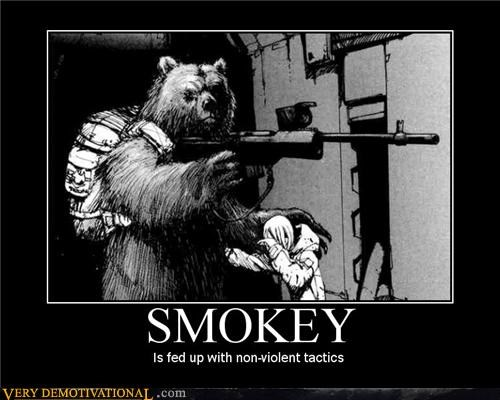 bear,non-violent,Smokey