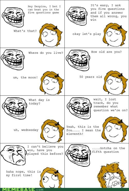 5 questions game troll troll face - 4576525568