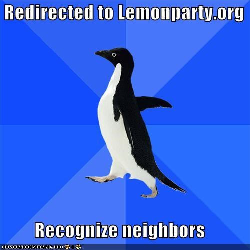 lemon party,neighbors,socially awkward penguin