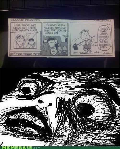 charles schulz hoe peanuts Rage Comics raisins-super-fuuuu Tiger Woods - 4576874240