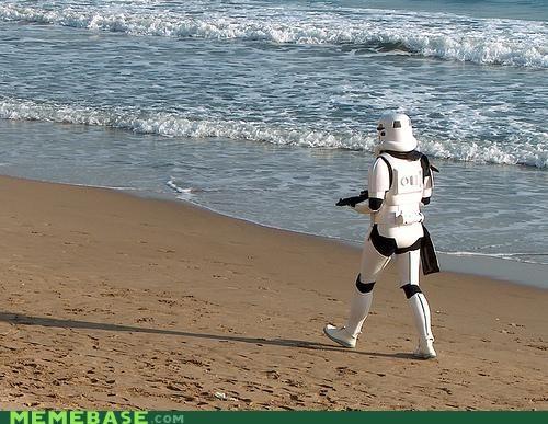 beach Sad stormtrooper
