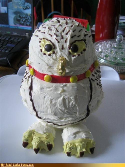 cake Harry Potter hedwig mail Owl