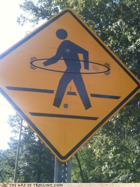 caution crossing hula hoop IRL walk - 4577031168