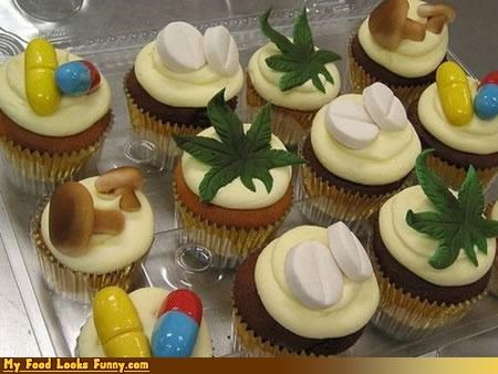 cupcakes,drugs,Mushrooms,pills,pot,weed