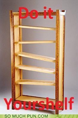 bookshelf DIY do it yourself shelf similar sounding