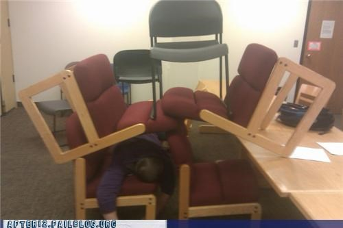 chairs drunk funny passed out room stacking - 4577152256