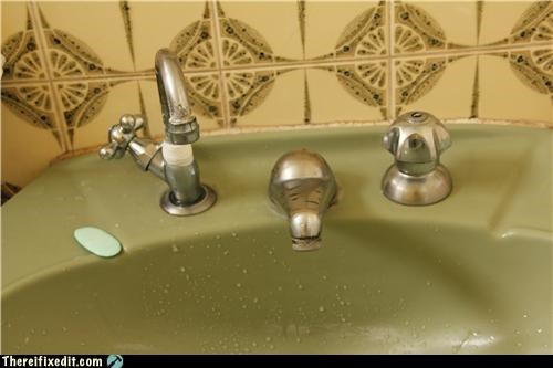 duct tape faucet plumbing sink - 4577233664