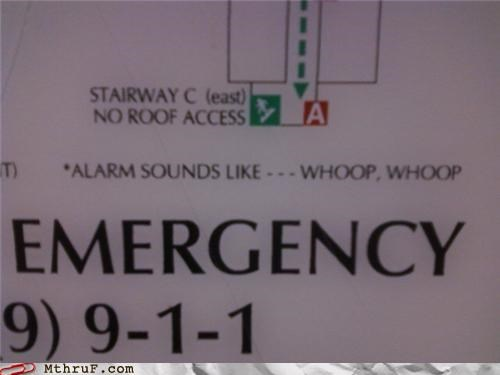 emergency,escape,onomonopia,sign,whoop