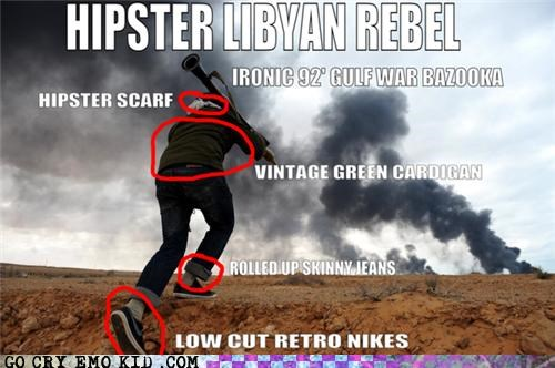 bazooka,current events,hipster,libya,nikes,peace,rebel