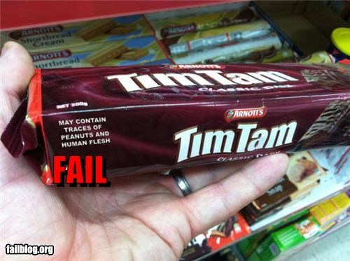 Allergy Fail May contain traces of what?