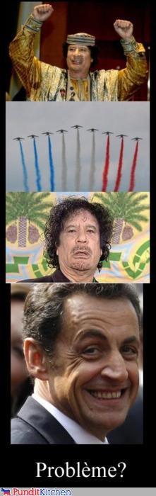 france libya Memes muammar al-gaddafi Nicolas Sarkozy problem troll troll face - 4577585664