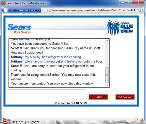 chat,customer service,sears,thanks
