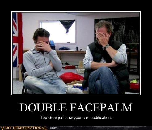 double facepalm sad times top gear