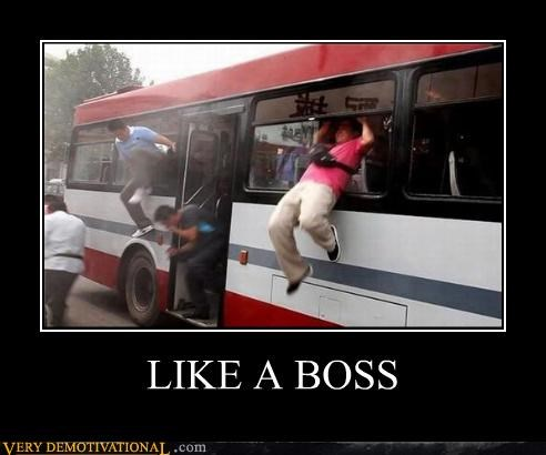 Like a Boss,bus,window,awesome