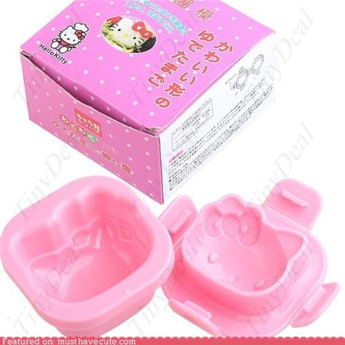 hello kitty mold rice shaped sushi - 4578249472