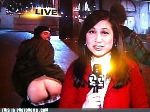 booty butt crack news TV