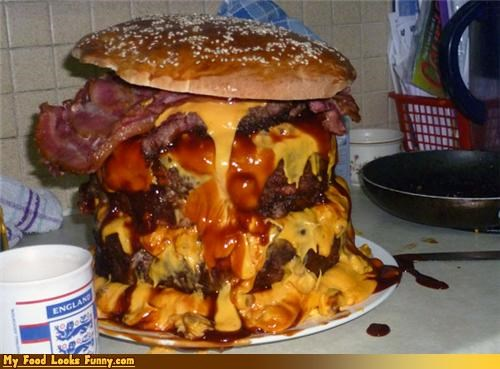 bacon,buns,burger,cheese,giant,meat