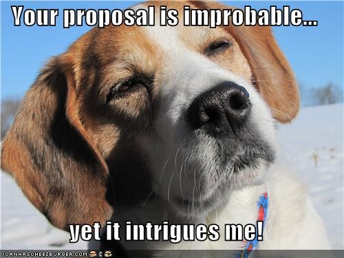 beagle improbable intrigued intrigues intriguing proposal puppy