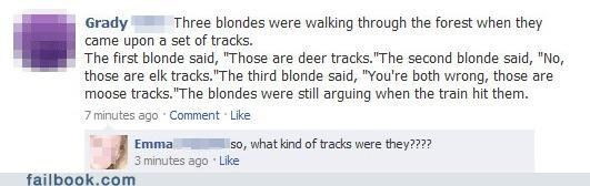 blonde exactly facepalm joke