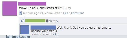 facepalm really status update - 4579536640