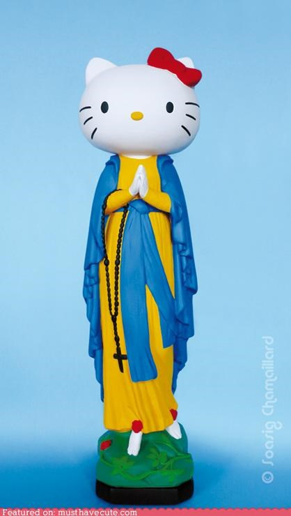 hello kitty holy mary rosary saint statue - 4579931904