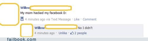 facepalm frape nice try parents - 4579969792