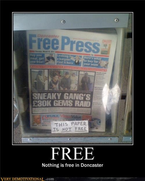 doncaster free is not press
