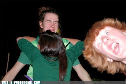 Awkward ginger hug